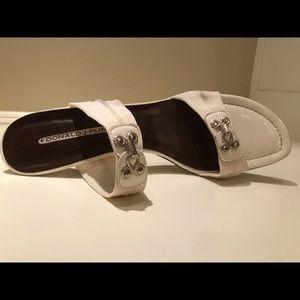 Donald J. Pliner Shoes - Donald J Pliner Jalba White Mesh Elastic Shoes 8.5